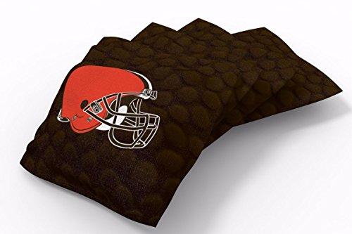 PROLINE 6x6 NFL Cleveland Browns Cornhole Bean Bags - Pigskin Design (Cleveland Browns Cornhole Bags)