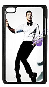Back case for iPod touch4,cases for iPod touch4,iPod touch4 cover case,DIY Justin Timberlake case with Bknso9M15_1660(Black).
