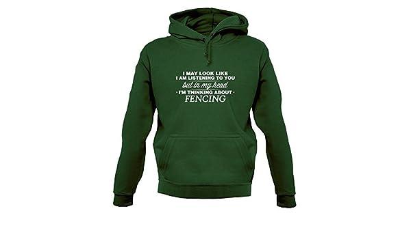 Dressdown MI CABEZA Im Esgrima - Sudadera Capucha Unisex/Sudadera Con Capucha - 12 COLORES - Verde Botella, X-Small: Amazon.es: Ropa y accesorios