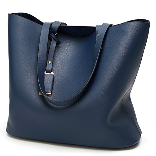 Cadier Womens Designer Purses and Handbags Ladies Tote (Blue Tote)