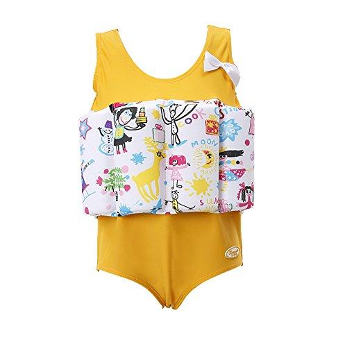 Flotation Swimwear (Lemandii Baby Floatation Suit Detachable Adjustable One-Piece Swimsuit Buoyancy Girls Age 1-10 Years Toddler Swim Trainer)