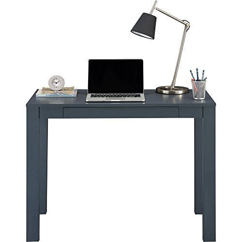 Mainstays Furniture NEW Parsons Desk with Drawer, Multiple Colors (Gray)