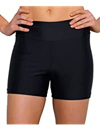 Ebuddy Women High Waist Summer Swimwear Tummy Tuk Swim Bottom Shorts