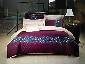 Deng Bedding Set, King Size, 220 x 240 cm, Floral pattern, 6-Pieces