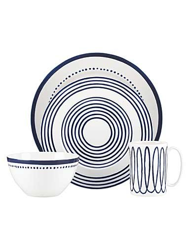 Kate Spade New York Charlotte Street West Dinnerware 4-Piece Place Setting, Blue and White Review