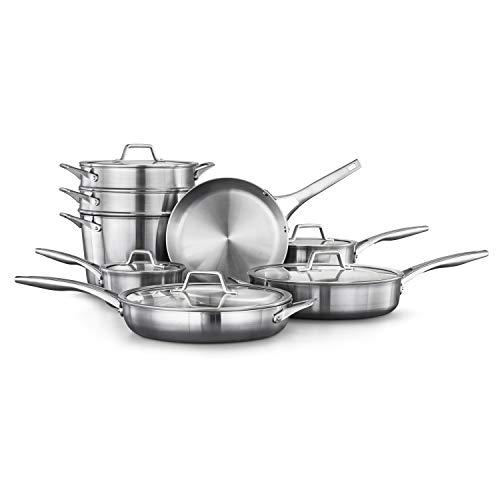 Calphalon 2052666 Premier Stainless Steel 13-Piece Cookware Set, ()