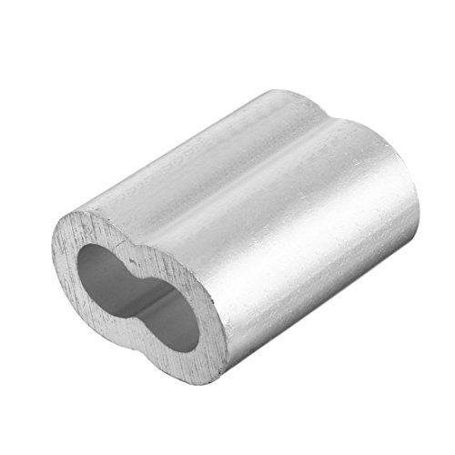 TOOGOO 20pcs 3/8 inch (10mm) Diameter Wire Rope Aluminum Alloy Sleeves Clip Fittings Cable Crimps by Toogoo (Image #4)