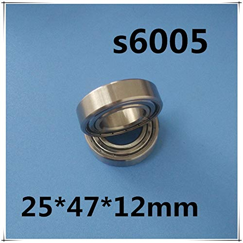 Ochoos 10PC S6005ZZ Stainless Steel Bearing 254712mm 25x47x12mm Miniature 6005ZZ//SS Ball Bearings S6005