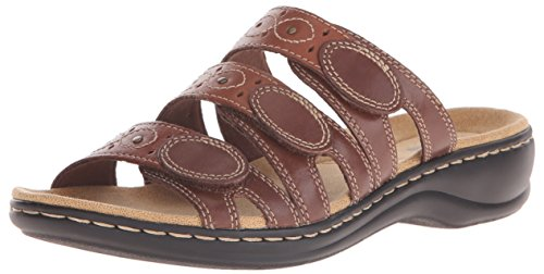 Leisa Slide Sandal Brown Cacti Clarks multi Women's 5qxnHIwt