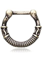 316L, 16GA, Vintage Rustica Olympus Septum Clicker Ring