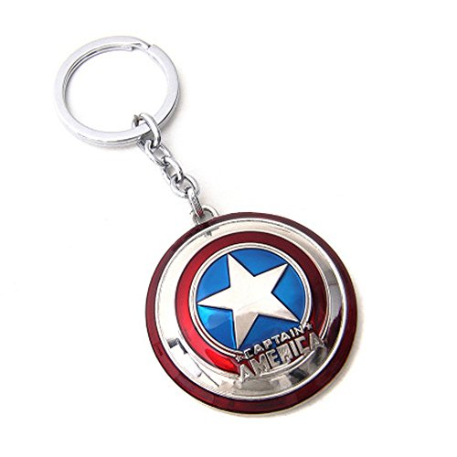 Marvel Comics Captain America Shield Logo Metal Keychain (Best Ironman Costume)