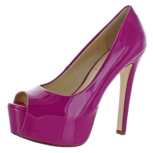 Jessica Simpson Women's Carri Platform Pump Twilight Magenta 5.5 M ()