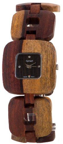 Tense Solid Sandalwood Unisex Watch Natural Wood Watch Retro B8204I -W