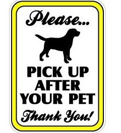 pick up after your dog