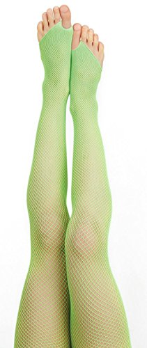 Fishnet Thong Tights (L/XL, Lime Green)