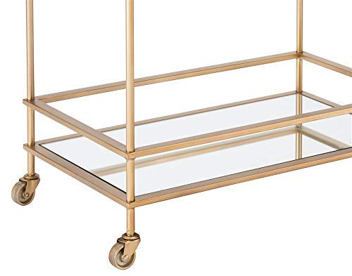 Gold Zuo Mirrored Bar Cart