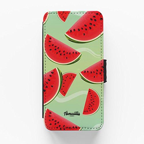 Water Melon Pattern Hochwertige PU-Lederimitat Hülle, Schutzhülle Hardcover Flip Case für iPhone 6 / 6s vom BYMBOW + wird mit KOSTENLOSER klarer Displayschutzfolie geliefert