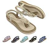 Best Walking Sandles For Women - Socofy Women Summer Flat Sandals, Ladies Slip On Review