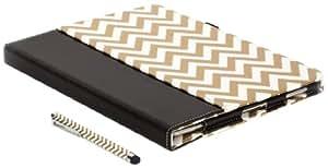 Griffin Technology GC36219 - Lápiz capacitivo para pantallas táctiles, diseño en zigzag, color blanco y dorado