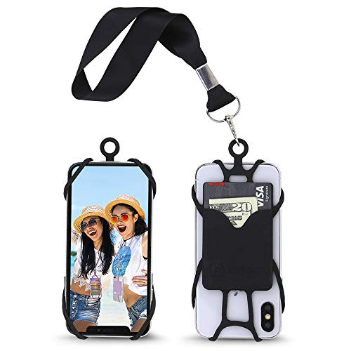 Gear Beast Cell Phone Wrist Strap Lanyard Safety Tether and Mobile Phone Holder with Card Pocket Compatible with iPhone…