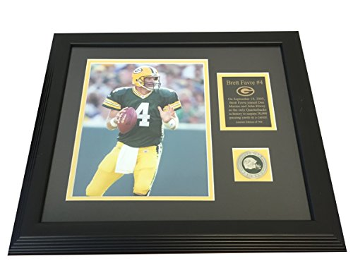 Brett Favre, Green Bay Packers HOF QB, 50,000 Passing Yards 17x15 Framed & Matted Piece