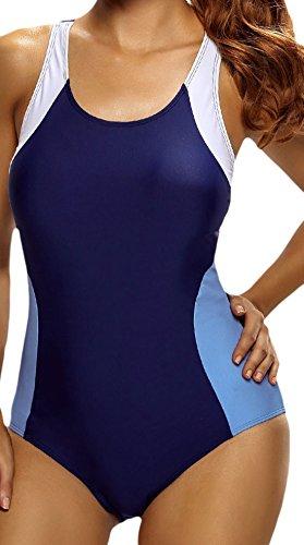 Frieda Fashion - Traje de una pieza - Opaco - para mujer Azul