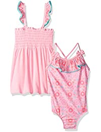Baby Buns Little Girls' Terry Tribal Cutie Cover up Swim Set