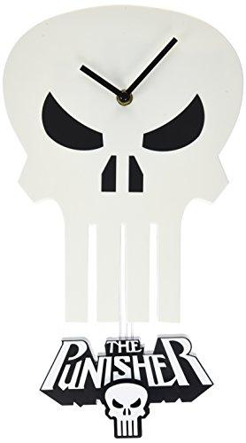 The Punisher Skull Pendulum Wall Clock - game room wall decor - game room wall decor