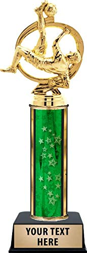 Crown Awards Soccer Champion Male Trophies, Personalized Green Soccer Champion Trophy, Your Own Engraving Included Prime