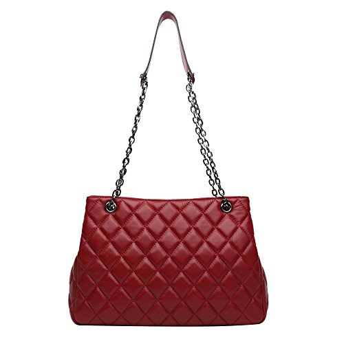 LUBLIN Women Handbags Tote for Satchel Rhombus Shoulder Crossbody ANA red Leather Bag Purse Fashion pSwq6pdZ