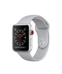 Apple Watch Series 3 Aluminum Case Sport 42mm Gps + Cellular Gsm Unlocked (Silver Aluminum Case With Fog Sport Band)