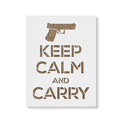 Keep Calm Carry Stencil Template - Reusable Stencils for Painting in Small & Large Sizes