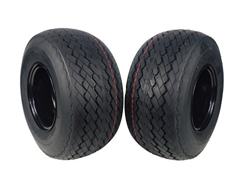 MASSFX Wheel & Tire Golf Cart Tire 18×8.5-8 with Black MASSFX 8×7 4/4 Rim 2 PACK