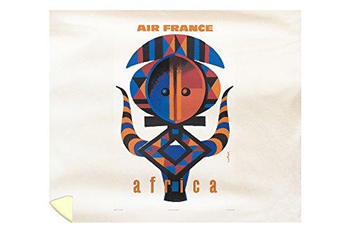Air France - Africa Vintage Poster (artist: Nathan-Garamond) France c. 1963 (88x104 King Microfiber Duvet Cover) by Lantern Press