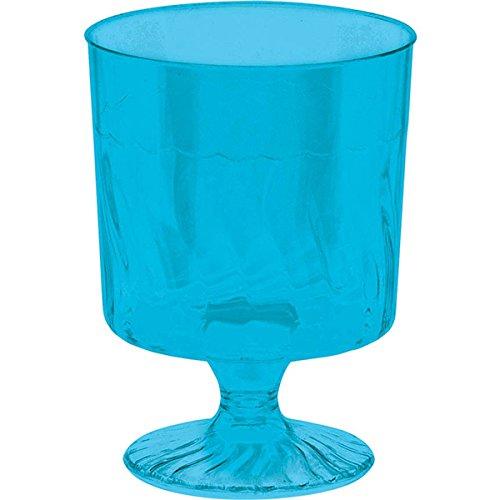 Amscan Pedestal Cups, Mini, Caribbean Blue