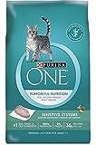 Purina ONE Sensitive Systems Adult Premium Cat Food 7 lb. Bag SmartBlend/Purposeful Nutrition