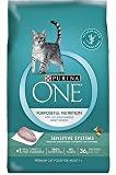 Purina ONE Sensitive Systems Adult Premium Cat Food 7 lb. Bag SmartBlend/Purposeful Nutrition For Sale