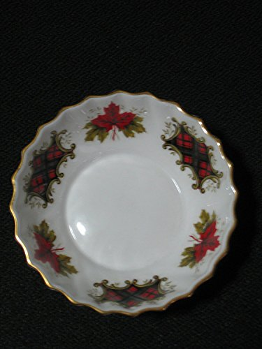 "Ridgway Potteries Maple Leaf Tartan Fingertip Bowl 4"" Across"