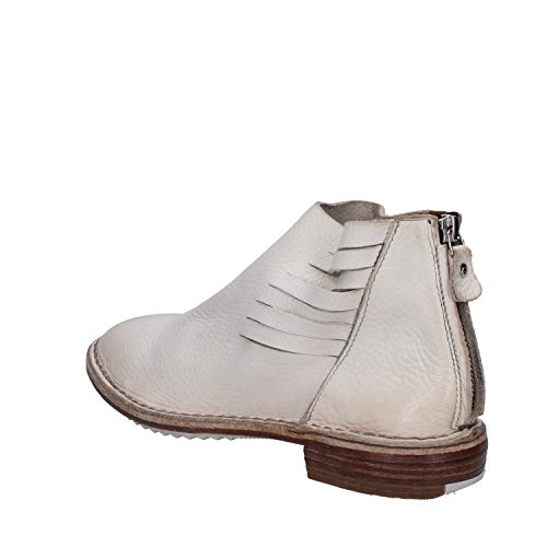 4 Uk Ankle eu Stivaletti Pelle Da White 37 Moma Uk 4 Bianca ue Donne 37 Leather Boots Women's Moma 17x6WR
