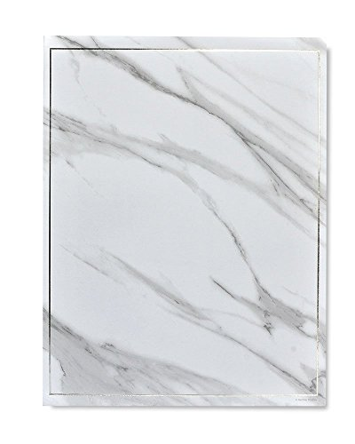Gartner Studios Marble & Silver Foil Stationery, 40 count ()