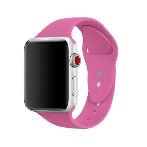 AdMaster Silicone Compatible for Apple Watch Band and Replacement Sport iwatch Accessories Bands Series 3 2 1 Barbie pink 38mm S/M