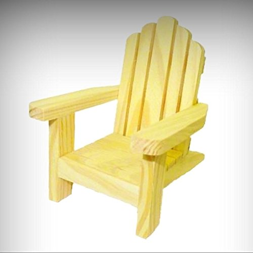 Dollhouse Miniature Wood Adirondack Chair 1:12 Scale Doll House Miniatures - My Mini Garden Dollhouse Accessories for Outdoor or House Decor