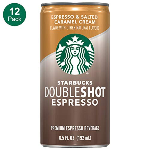 Espresso Caramel - Starbucks, Doubleshot Espresso, Salted Caramel, 6.5 fl oz. cans (12 Pack)