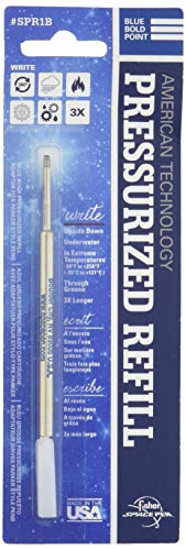 - Fisher Space Pen Blue Bold Point Pressurized Refill (SPR1B)