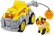 Paw Patrol, Mighty Pups Super Paws Rubble's Deluxe Vehicle with Lights and Sound, Multicolor, Model:6054835