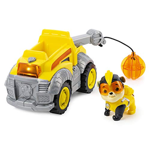 Paw Patrol Pup (Paw Patrol, Mighty Pups Super Paws Rubble's Deluxe Vehicle with Lights and)