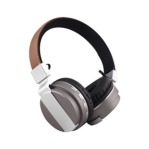 Alltrum Foldable Over-Ear Headphone,Wireless Headsets With Built-in Mic, Stereo Sound,Lightweight,Comfortable Wearing Feeling,Noise Reduction,SD Card,Wired Modes for Phone / PC, Gray