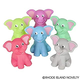 "Just4fun 12 Elephant Bath Tub 2"" Squirters - Swimming Pool Squirts - Party Favors - Water Toys"