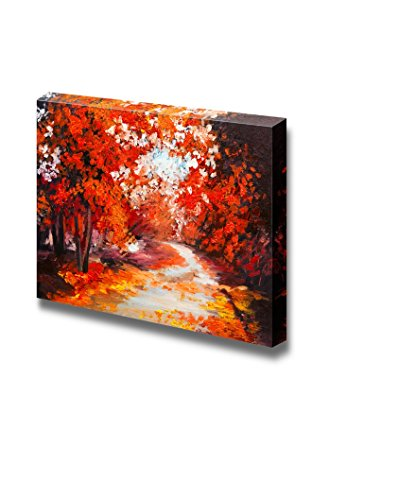 Oil Painting Style Landscape Colorful Autumn Forest Wall Decor ation