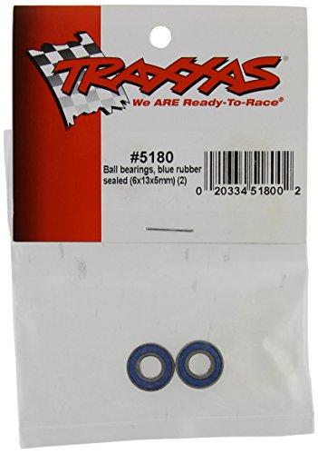 Traxxas 5180 Ball Bearings with Blue Rubber Seal, 6x13x5mm (pair) (Ball Bearing Blue)